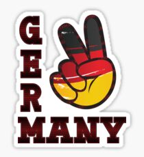 Peace Hand Sign of Germany Flag Graphic T-shirt Sticker