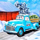 Vintage Chevy Truck - 1950's Americana - Winter Snow by Mark Tisdale
