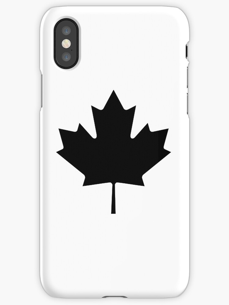 CANADA, CANADIAN, Maple leaf, Canadian Flag, National Flag of Canada, Funeral, Mourning, A Mari Usque Ad Mare, Pure & Simple, in BLACK by TOM HILL - Designer