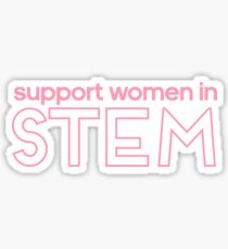 support women in STEM Sticker