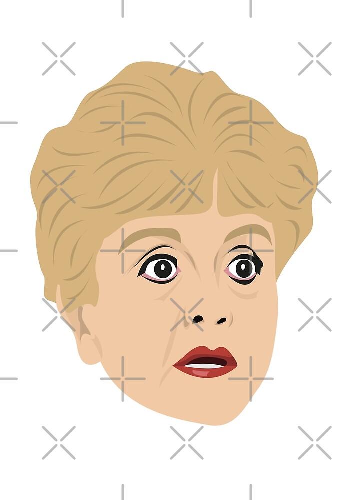 Jessica Fletcher in Murder She Wrote by gregs-celeb-art
