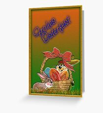 Happy Easter greetings Greeting Card