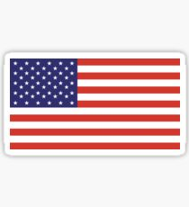 American Flag, Stars & Stripes, Pure & simple, United States of America, USA Sticker