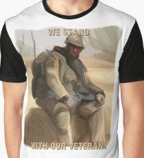 We Stand With Our Veterans ~ By Ernie Kasper Graphic T-Shirt
