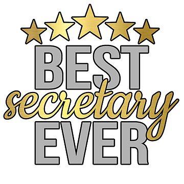 Gift for Beloved Secretary, Best Secretary Ever Five Star by Deesdesigns