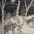 Wolves in the woods by cdcantrell