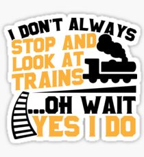 Train Stop and Stare  Sticker