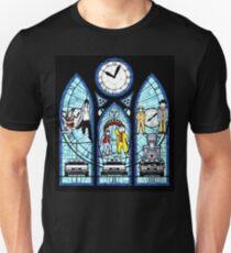 BTTF I,II,III- Stained Glass Window Unisex T-Shirt