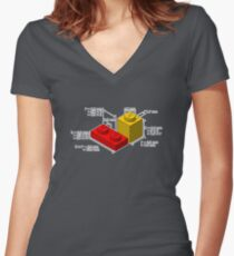 LEGO Dimensionen Tailliertes T-Shirt mit V-Ausschnitt
