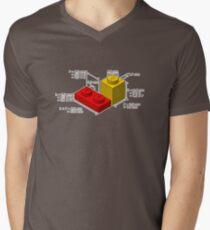 LEGO Dimensionen T-Shirt mit V-Ausschnitt für Männer
