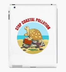Stop Coastial Pollution Ecology Emblem iPad Case/Skin