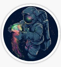 Astronaut and the Jellyfish Sticker