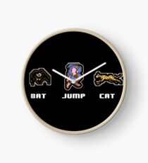 Bat Jump Cat Ninja Gaiden NES Clock