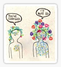 you've changed flower drawing  Sticker