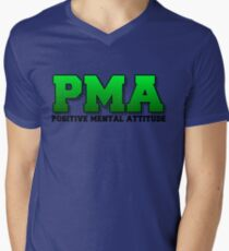 PMA - Positive Mental Attitude - Jacksepticeye - Font 3 Men's V-Neck T-Shirt