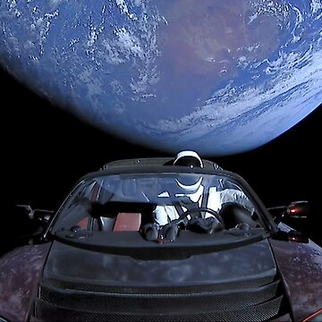 SpaceX's Starman Leaving Earth by bobbooo
