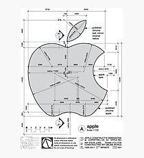 Apple Construction Dimensions Photographic Print