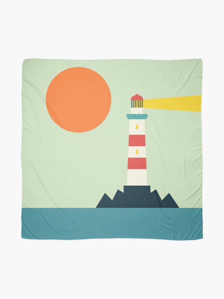 Alternate view of Lighthouse Scarf