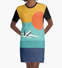 Fly Away Graphic T-Shirt Dress