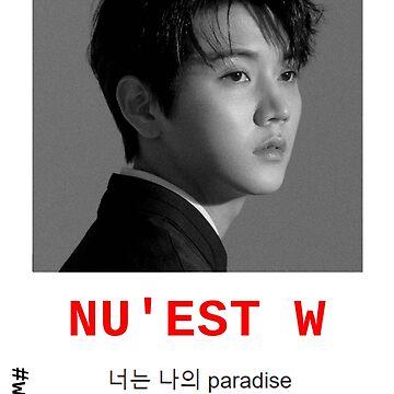 NU'EST W - #W.HERE CHOI MINKI 'REN' PARADISE POSTER/SHIRT/NOTEBOOK (...) by wayfinder