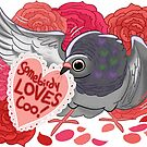 Valentine Pigeon by ProfessorBees
