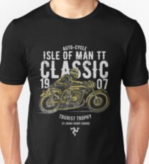Isle Of Man TT Racing Manx Classic Vintage 3 Legs Flag Road Race Classic Unisex T-Shirt