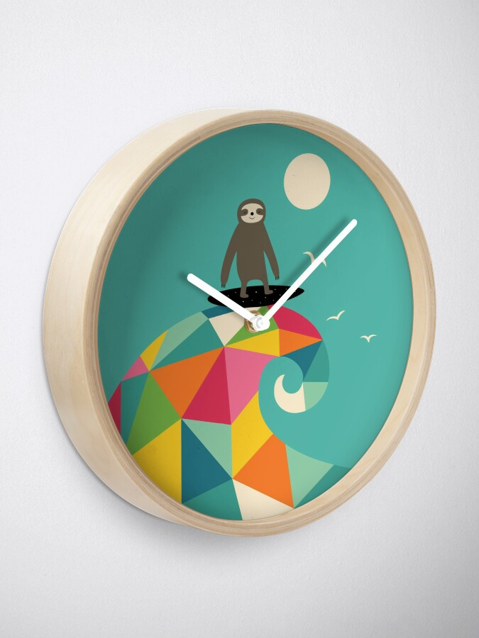 Alternate view of Surfs Up Clock
