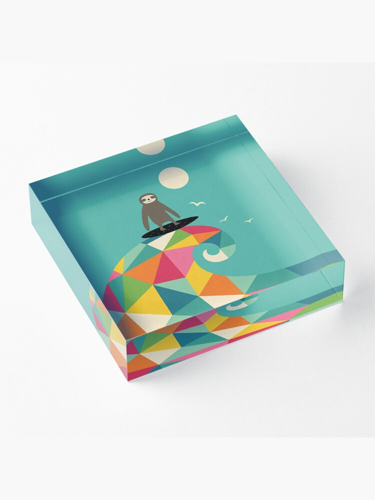 Alternate view of Surfs Up Acrylic Block