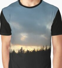 Nova Scotia Winter Sky Graphic T-Shirt
