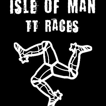 Isle Of Man TT Racers Flag Vintage Manx by thespottydogg