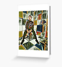 David Bowie cubist kaleidoscope Greeting Card