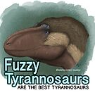 Fuzzy Tyrannosaurs by SerpenIllus
