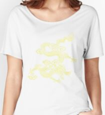 Gold Chinese Dragon Clothing Women's Relaxed Fit T-Shirt