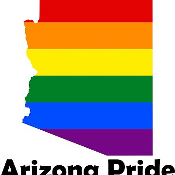 Arizona Gay Pride Flag Map by MADdesign