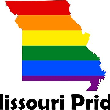 State of Missouri Gay Pride Flag Map by MADdesign