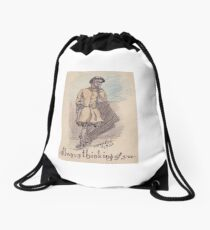 Always Thinking of You - WWI Illustrated Postcard Drawstring Bag