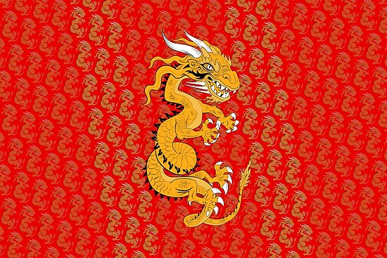 Golden Dragon on Red by Dave Stephens