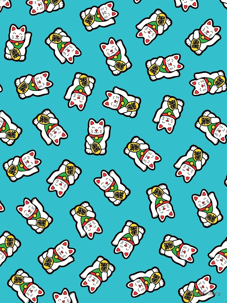 Lucky Cat Pattern by evannave