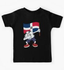 Dominican Republic Dabbing Soccer Ball Kids Tee