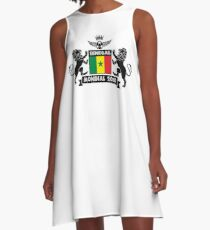Les Lions Du Senegal A-Linien Kleid