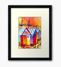 Brighton Beach Houses, Melbourne Australia Framed Print