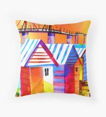 Brighton Beach Houses, Melbourne Australia Throw Pillow