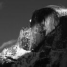 MOONRISE OVER HALFDOME by Chuck Wickham