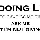Giving up something for Lent? by Andy Mackay