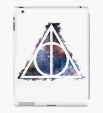 Galaxy hallows - wand, cloak, stone iPad Case/Skin
