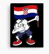 Croatia Dabbing Soccer Ball Canvas Print
