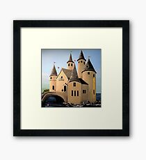 Fantasy Castle of Superheroes Framed Print