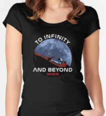 Starman - To Infinity And Beyond Women's Fitted Scoop T-Shirt