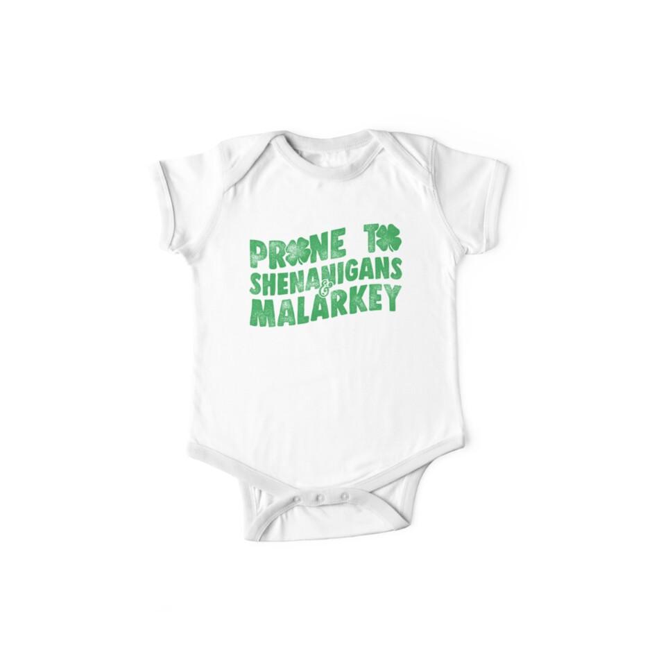 7508344fb Prone To Shenanigans And Malarkey T Shirt St Patricks Day by LiqueGifts