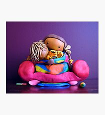 CHUNKIE Mother and Girl Child Photographic Print